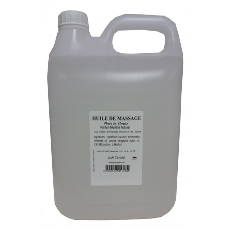 Menthol - Huile de massage adoucissante 5 litre