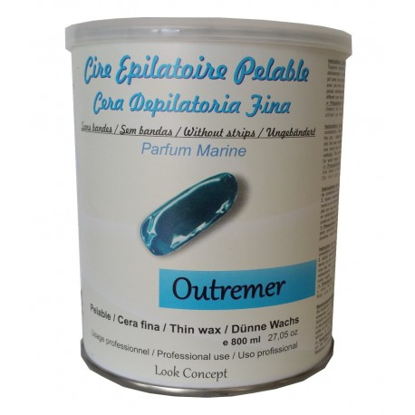 Pot 800 ml cire à épiler Pelable OUTREMER