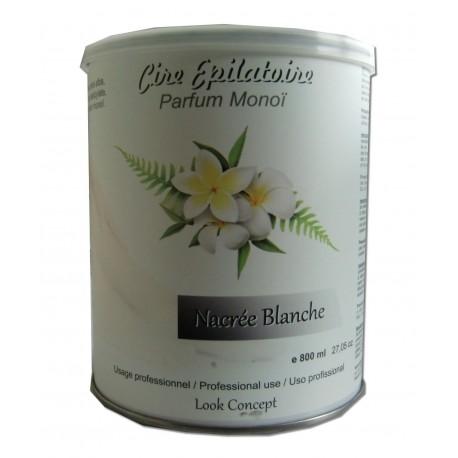 NACREE BLANCHE - Pot 800 ml de cire à épiler