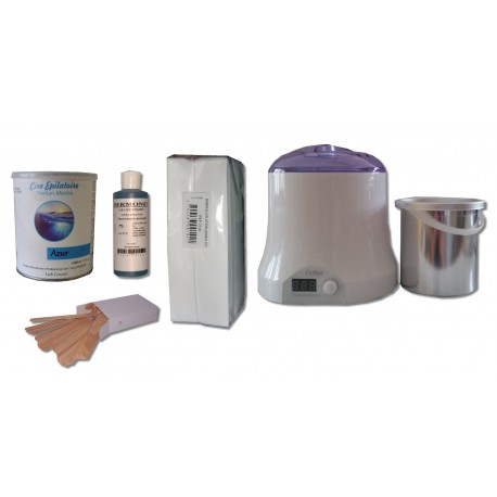 Cid Epil. Kit épilation AZUR Pot 800 ml Cire jetable