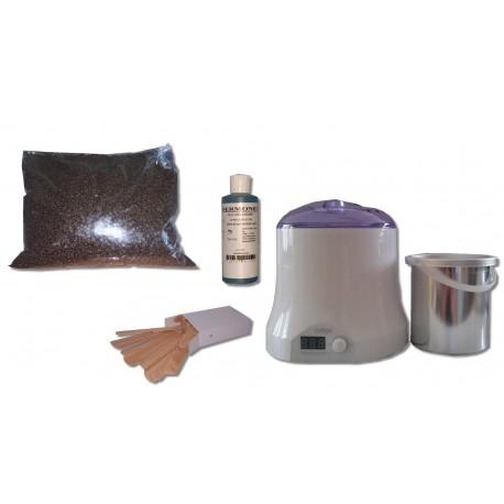 Cid Epil. Kit épilation 800 ml - Cire Traditionnelle Chocolat 1 kg Perles
