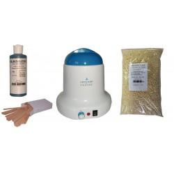 Kit épilation 800 ml - Cire Pelable Blanche 1 kg Pastilles