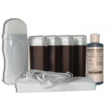 Kit épilation 4 x 100 ml CHOCOLAT - Cire à épiler
