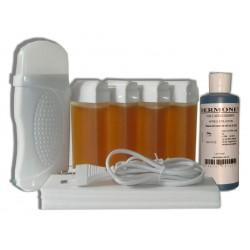 Kit épilation 4 x 100 ml TOPAZ type miel - Cire à épiler