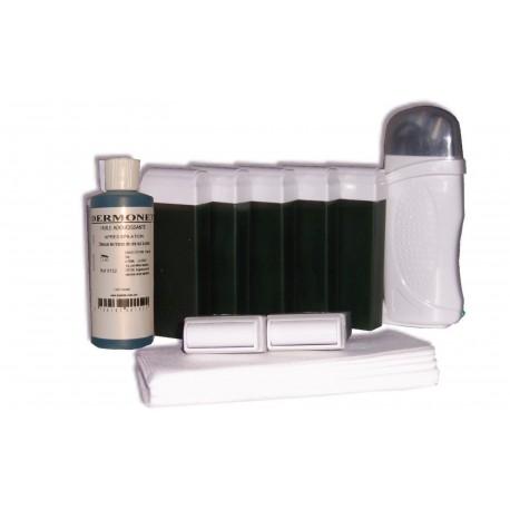 Kit épilation - Solo, cire à épiler Chlorophylle, bandes lisses, huile
