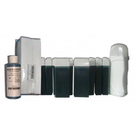 Kit chauffe-cire CHLOROPHYLLE 12 x 100ml - Bandes