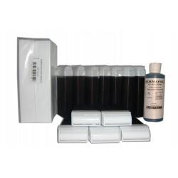 FRUITS ROUGES - 12 recharges de cire à épiler + 250 bandes + huile