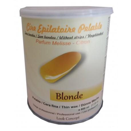 Pot 800 ml cire à épiler Pelable BLONDE