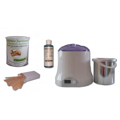Cid Epil. Kit épilation VERTE, Pot 800 ml Cire traditionnelle