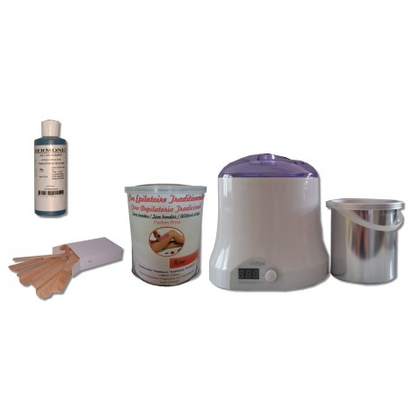 Cid Epil. Kit épilation Pot 800 ml ROSE traditionnelle