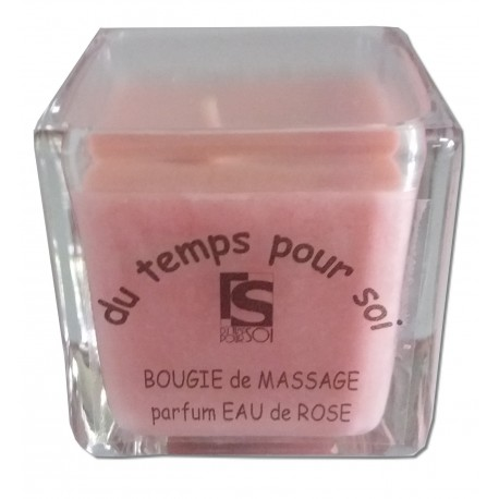 Eau de Rose - 60 g - Bougie de massage - Argan