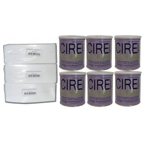 Pack Fushia - 6 Pots cire à épiler 800 ml