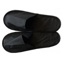 50 paires de mules noires (chaussons) spécial soins cabine