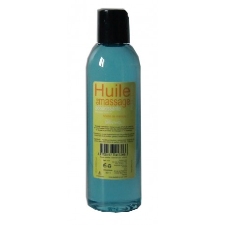 Menthol naturel - Huile de massage adoucissante 200 ml