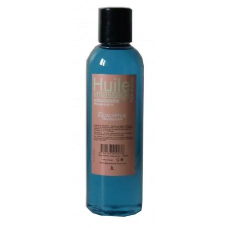 Huile adoucissante de massage au parfum de l'eucalyptus en 200 ml