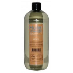 Huile de massage adoucissante parfum Monoï en flacon d'1 litre