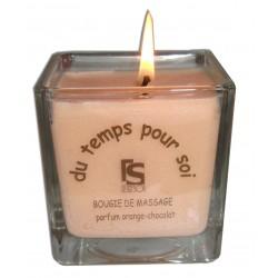 Parfum Orange chocolat - 210 g - Bougie de massage parfumée