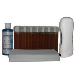 Kit SOLOR - 7 x 100 ml cire MIEL - 100 bandes