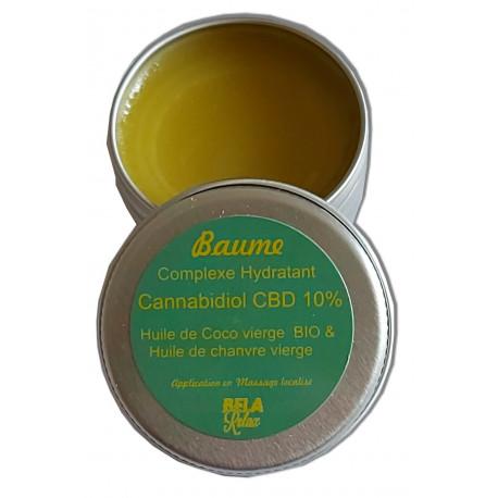 Baume CBD huile de coco, huile de chanvre parfait pour le soin visage