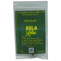 Amnesia sachet de 5g de CBD dosé à 6%