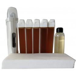 kit epilation cire 5 recharges de 100 ml Miel
