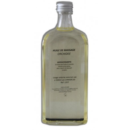 Huile adoucissante de massage, parfum Orchidée, 500 ml pour les jambes