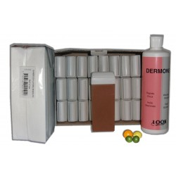 AGRUMES MIEL - Recharge cire roll on - 24x100 ml - Bandes, huile 500 ml