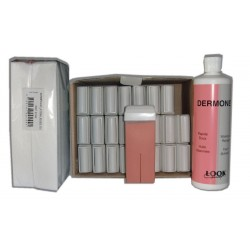 ROSE - Recharge cire roll on - 24x100 ml - Bandes, huile 500 ml