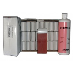 FRUITS ROUGES - Recharge cire roll on - 24 x 100 ml - Bandes, huile 500 ml